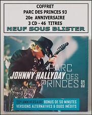 JOHNNY  HALLYDAY COFFRET 3 CD NEUF SOUS BLISTER - PARC DES PRINCES 93 - RARE