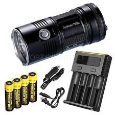 NiteCore TM06S 4000 lumens 393 Yard LED Flashlight w/ 4 x 18650 Recharger Kit