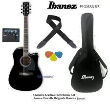 IBANEZ PF15ECE BK NERA Chitarra Acustica Amplificata con Borsa e Tracolla IBANEZ