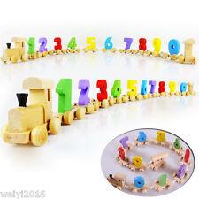 Zahlen-Zug Holzzug Ziffer EISENBAHN Holz Spielzeug Kinder Mathe-Lernen Geschenk
