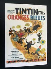Carte postale Tintin ert les oranges bleues