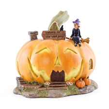 Fairy Garden Mini - Welcome To The With Party Jack O'Lantern House
