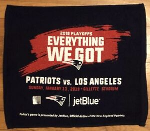 NE Patriots 2018 Playoff Rally Towel SuperBowl LIII Champs Gronk Final Home Game