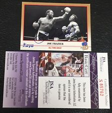 JOE FRAZIER 1991 KAYO BOXING SIGNED AUTOGRAPHED CARD #248 JSA CERTIFIED