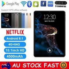10.1 Inch Android 8.1 Bluetooth WiFi Tablet PC 4+64GB 1080P Three Camera Netflix