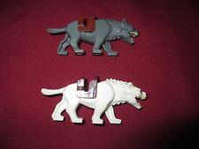 LEGO LOTR/HOBBIT Minifigures Lot. White & Gray Wargs with saddles