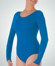 Body Wrappers Women Plus Size Long Sleeve Leotard, 2X, 3X