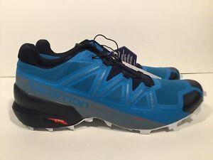 Speedcross 5 Fjord Blue/Navy Blazer/Illusion Blue 409258 Men's size 12