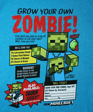 Minecraft Grow Your Zombie Video Game Promo T-Shirt NOS Unused Sz XL Kids 2017