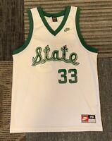 Men's Large Nike Michigan State Spartans Magic Johnson #33 Basketball Jersey