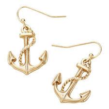 Anchor Fashionable Earrings - Fish Hook - Gold Plated