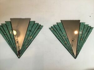 Art Deco mirrors pair fan shape Handcrafted Decorative design home decoration is