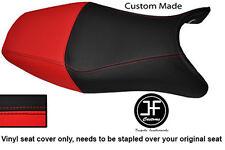 RED & BLACK VINYL CUSTOM FOR HONDA CBR 1100 XX SUPER BLACKBIRD 96-07 SEAT COVER