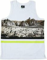 LRG Mens T-Shirt White Size Medium M Desert Graphic Front Tank Top $42 202