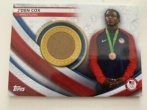 J'DEN COX 2020 Topps Team USA US Olympics Memorabilia Relic wrestling