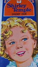 "Shirley Temple Whitman Vintage 1976 Uncut 10"" Paper Doll with 23-pc Wardrobe NOS"
