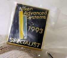 Nikon Gold Logo Enemel Pin Lapel 1993 Advanced Systems  Specialist Free Shipping