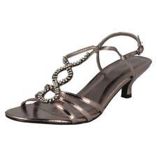 Scarpe da donna stiletti grigi sera