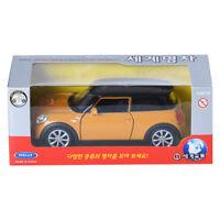 Welly 1:34 New MINI HATCH Orange Display Mini Car Miniature Car