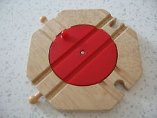 4 WAY TURNTABLE Wooden Train Track Set  ( Brio Thomas ) a