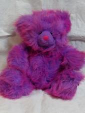 "Girl Powrrr Russ Tutti Frutty Purple Pink Stuffed Bear Plush 10"" Sitting w/ Tag"
