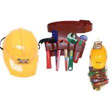 7Pc Childrens Kids Boys Builders Fancy Dress Tool Belt Set Toy Game Saw Spanner