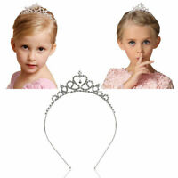 New Rhinestone Tiara Hair Band Kid Girl Bridal Princess Crown Prom Headband H3R3