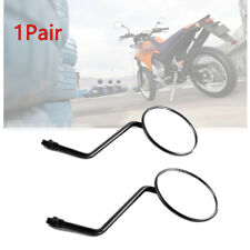1 Pair Motorcycle Round  Black  Mirrors 10mm Thread Rear Side View Mirror Black