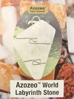 "1.5""/37mm AZOZEO™ World Labyrinth White Azeztulite™  wire wrapped Pendant #204"