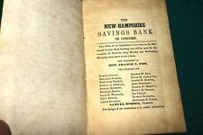 #7362,Rare Bank Book, Levi Colby 1844 Henniker,NH Savings Bank New Concord