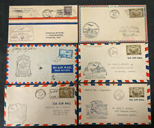 Six CANADA Airmail First Flight Stamp Cover lot (#K9062)