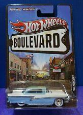 2012 Hot Wheels BOULEVARD '56 MERCURY in Blue & White. Real Riders. VERY RARE