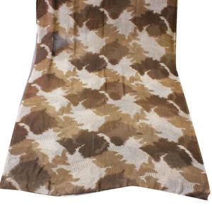 Indian Women Dress Wrap Printed Sewing Saree Home Decor Brown Saree Cloth Used