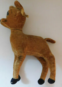 "Vintage 1940s Bambi Stuffed Plush Deer Walt Disney 12"" Wire Legs"