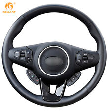 Soft Black Genuine Leather steering Wheel Cover Wrap for Kia Carens 2012 2013