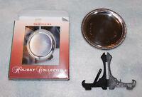 Silverplated Holiday Collectible Keepsake Silver Mini Display Plate Greetings