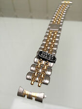 Accurist Stainless Steel Watch Strap Gold plated Two tone 18mm High quality (a2)