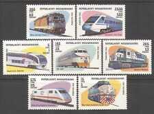Madagascar 1993 Locomotives/Trains/Transport/Rail/Railways 7v set (n26129)