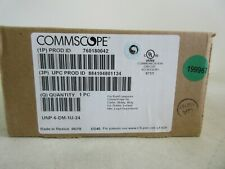 CommScope Uniprise Unp-6-Dm-1U-24 Cat 6 Unp 24-Port Patch Panel New Sealed