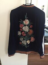 Zara Womens Floral Embroidered Velvet Jacket SIZE MEDIUM BRAND NEW RRP £59.99