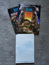 Blizzard Entertainment Note Pad and Product Catalog