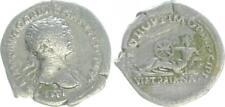 Denar, Silber 98-117 Antike / Römische Kaiserzeit Frau mit Rad und Zweig s-ss