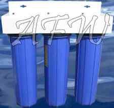 "Big Blue High Flow Whole House Filter 3 stage Sediment GAC Carbon 4.5"" x 20"""