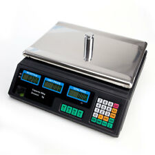 Digital Weight Scale Price Computing Food Meat Produce Deli Market 88lb