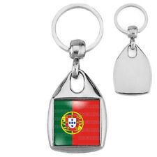 Porte-Clés Carré Acier Drapeau Portugal Portuguais Portuguese Flag Embleme