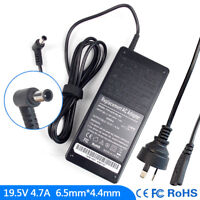 New 19.5V 4.7A For Sony Vaio VGP-AC19V26 VGP-AC19V27 AC Adapter Charger Cord