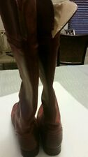 Preowned Frye burnt red leather boots. Size 6.5
