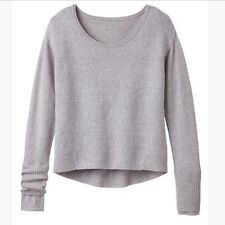 ATHLETA Merino Brindle Sweater, NWT, Large, Grey Heather, Sold out in Stores!
