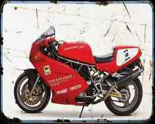 Ducati 900Sl Super Light 1 A4 Metal Sign Motorbike Vintage Aged