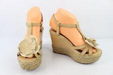 Sandales à Talons Compensés SAN MARINA Cuir Beige T 37 TRES BON ETAT